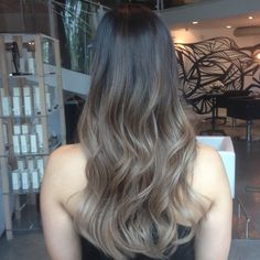 Don't wanna be too blonde? Be bronde! Ashy blonde-brown balayage ombre…