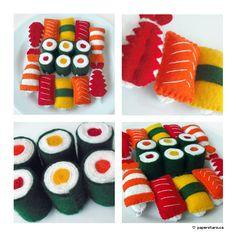 Sushi by littlepaperforest.deviantart.com on @DeviantArt
