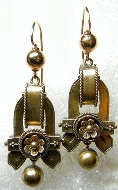 ELEGANT AND LUXURIOUS 14K ANTIQUE VICTORIAN  DANGLE EARRINGS #Unbranded #DropDangle