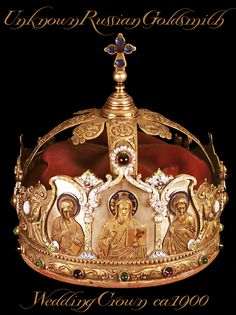 RUSSIAN SILVER GILT WEDDING CROWN  created by an unknown Russian goldsmith, ca 1900. Christian Orlov photo Collection & retouching.