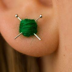 Yarn earrings!
