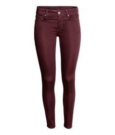 Super Skinny Regular Jeans | Dark red | Ladies | H&M IL