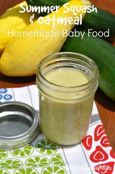 Summer Squash and Oatmeal Homemade Baby Food: This simple, mild, and healthy puree is perfect for your early eaters! Plus, it couldn't be easier to make!