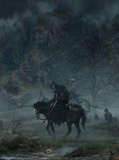 Fantasy Art Watch — Death Passing by Hwanggyu Kim