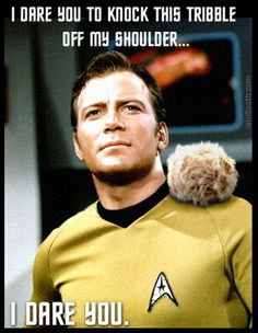 How Captain Kirk starts one of his favorite forms of entertainment -- fighting.