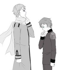 Russia x Latvia Hetalia Half and a Half<<< wHAT ComPElled mE to ship tHis--