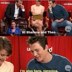 Divergent interview with Shailene Woodley, Theo James, and Miles Teller. Hahahahaha Miles!!