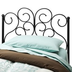 Scroll Headboard - Black (Twin) : Target  $130