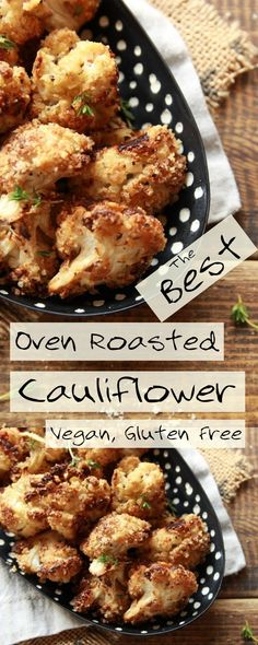 These are by far the best nutty, oven roasted cauliflower florets! Vegan, gluten free, quick and easy to prepare, this plant based cauliflower recipe is perfect as a starter, main or simply to snack on. #cauliflower #veganrecipes #plantbased #lunch