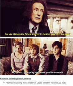 """11 Missing Lines That Should Have Been In The """"Harry Potter"""" Movies.These would have been the best! Well we know Hermione is gonna be the Minister of Magic in future Harry Potter Jokes, Harry Potter Film, Harry Potter Universal, Harry Potter Fandom, Harry Potter World, Harry Potter Theories, Harry Potter Imagines, Hogwarts, No Muggles"""
