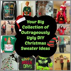 ugly Christmas sweater collage