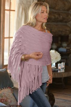 Wrap yourself in warmth and romantic style with our beautiful Tres Chic Shawl. | Soft Surroundings