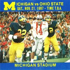 1987 Ohio State vs. Michigan Football Ticket Coasters™   Michigan football gifts. http://www.michiganfootballgifts.com/ Michigan football gift ideas. #47straight #Christmasgifts #gifts