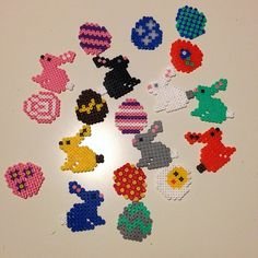 Easter ornaments hama perler by pernilleromme