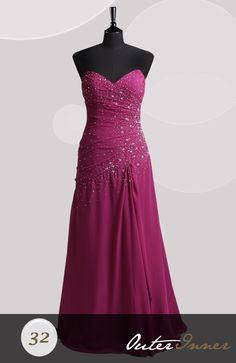 Floor-length A-line Sweetheart Strapless Prom Dresses Style Code: 06592