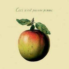 Ceci n'est pas une pomme. Magritte