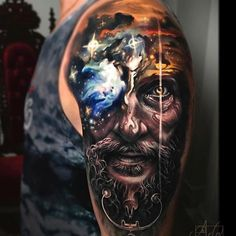 Face morph tattoos can make true custom ink for people wanting something poetic, original and superb and Arlo DiCristina masters this style. 3d Tattoos, Unique Tattoos, Body Art Tattoos, Tattoos For Guys, Small Tattoos, Tattoo Sleeve Designs, Sleeve Tattoos, Arlo Tattoo, American Flag Sleeve Tattoo