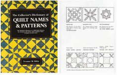 The Collectors Dictionary of Quilt Names and Patterns by Yvonne M. Khin
