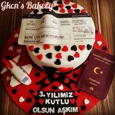 Yıldönümü pastası /anniversary/cake/sekerhamuru/sugarpaste/travel/love
