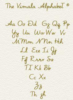 Vimala Alphabet