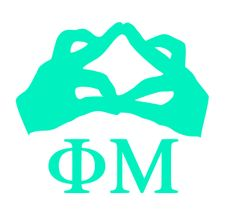 Phi Mu Hand Sign Decal - for my car! Frat Girls, Hand Symbols, Sorority Canvas, Vinyl Monogram, Phi Mu, Signs, Cricut Air, Mottos, Sisters