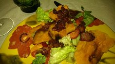Roasted Butternut squaah salad with Maple bacon and Balsamic Vinaigrette