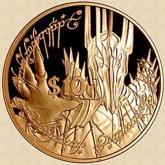 New Zealand 2003 Gold Sauron and the One Ring Coin