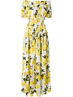 DOLCE & GABBANA Lemon Print Maxi Dress. #dolcegabbana #cloth #dress