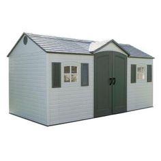 Lifetime 15 ft x 8 ft. garden shed  $1,699 HomeDepot