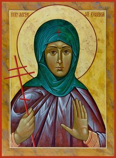 Martyr St Eugenia of Rome was the daughter of most distinguished & noble parents named Philip & Claudia. They moved to Alexandria with his family. Eugenia was deeply touched by the Epistles of St Paul & devoted herself to a monastic life... She disguised herself as a man throughout her monastic life until a woman named Melanthia lusted for her & brought her to her own father,& confessed who she was. Immediately, her father converted to Christianity & was beheaded, so was the rest of the…