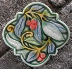 Hand carved art tiles and vessels. Art Tiles, Clay Tiles, Craftsman Tile, Tile Projects, Quatrefoil, Mud, Warehouse, Hand Carved, Garden Ideas