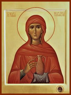 maria magdalena listen to jesus - Google Search Archangels, Orthodox Icons, Byzantine Art, Mary Magdalene, Madonna And Child, Best Icons, Catholic Art, Maria Magdalena, Sacred Art
