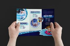 Swimming Pool Trifold Brochure by BrandPacks on @Graphicsauthor