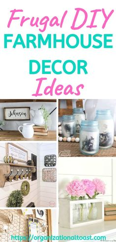 Check out these amazing DIY farmhouse decor ideas, especially if your on a budget! Includes dollar store projects, wall decor, wreaths and curtains. Album Design, Diy On A Budget, Decorating On A Budget, Bedroom Organization Diy, Organization Ideas, Organizing, Living Room On A Budget, Frugal Living, Budget Bedroom