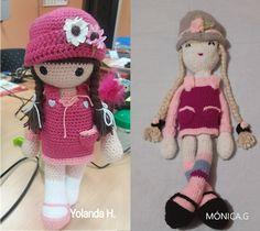 Patrón de muñeca amigurumi Anni Crochet Doll Pattern, Crochet Dolls, Crochet Baby, Free Crochet, Knit Crochet, Crochet Patterns, Paracord Tutorial, Amigurumi Tutorial, Doll Patterns