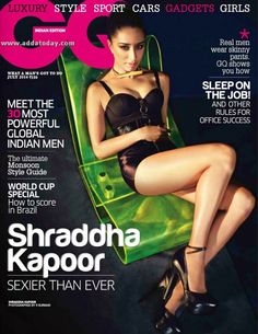 Shraddha Kapoor Sexy Cleavage Stills For GQ Magazine Bollywood Bikini, Bollywood Actress Hot, Bollywood Fashion, Bollywood Actors, Bollywood Celebrities, Bollywood Cinema, Bollywood Updates, Bollywood Style, Indian Celebrities