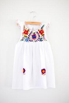 Lulu Dress in Daisy White