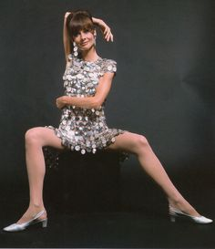 AUDREY HEPBURN in Two For the road 1967. Wearing 'Unwearable' dress by Paco Rabanne from Audrey the 60's by David Wills (minkshmink)