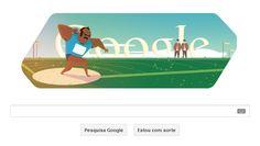 Lançamento de peso ganha Doodle em homenagem às Olimpíadas de Londres