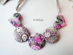 pink millefiori necklace