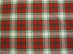 Tablecloth Christmas Red, Green and Gold Plaid Cotton. $12.95, via Etsy.