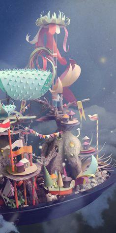 paper craft ink studio 4 Increíbles trabajos de Paper Craft por Ink Studio de Belgica