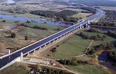 German Water Bridge - Magdeburg Canal Bridge - gCaptain Maritime ...