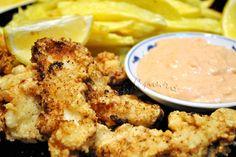 Calamar pane cu sos picant-acrisor | gurmandino.ro Ethnic Recipes, Food, Calamari, Essen, Meals, Yemek, Eten