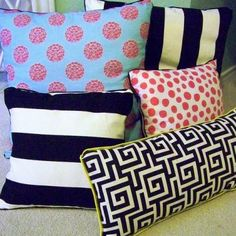 no sew pillows with piping? I wanna see this tutorial