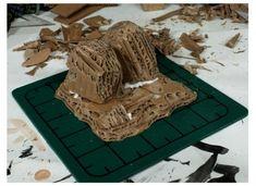 Game Terrain, 40k Terrain, Wargaming Terrain, Cardboard Castle, Cardboard Crafts, Miniature Bases, Warhammer Terrain, Dragon Crafts, D&d Dungeons And Dragons
