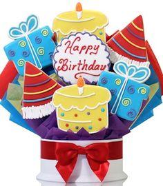 Corso's Birthday Gifts Iced Decorated Sugar Cookie / Biscuit Collection. Galletas decoradas.