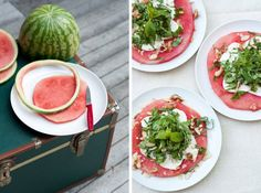 This Light and Refreshing Summer Salad Uses Mozzarella and Watermelon #recipes trendhunter.com
