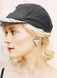 R/H for FLOW - Mountain Earrings Grey Flow, Baseball Hats, Grey, Mini, Earrings, Mountain, Collection, Black, Jewelry