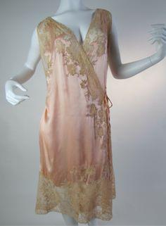 Rare #Vintage #Lingerie Wrap Chemise En Robe c. 1918